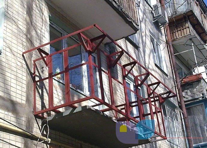 Как сделать каркас балкона видео